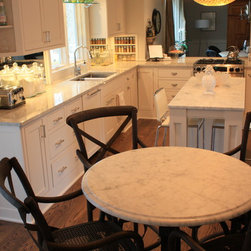 Batesville, IN - Carrara White Marble table top by The Stone Studio, Batesville, IN