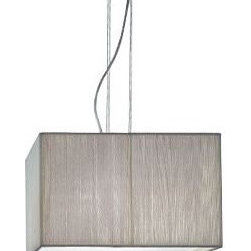 AXO Light - Clavius Square Pendant by AXO Light - The Clavius Square Pendant by AXO Light, designed by Manuel Vivian, illuminates light beautifully through interlaces of a handmade silk thread shade. This square pendant lamp evokes the mood of a room while adding a decorative touch. These well-designed products unify superb materials with stylish shapes to create stunning contemporary furniture. The Clavius Square Pendant by AXO Light is available with the following options:Diffuser: White (shown), or TobaccoFinish: ChromeThe Clavius Square Pendant by AXO Light provides diffused lighting. It utilizes the following lamping options:Small: Four 60 Watt 120 Volt E26 lamps (not included)Large: Four 100 Watt 120 Volt E26 lamps (not included)Shipping:This item usually ships within 2 to 4 weeks.Dimensions:Large Diffuser: Height 13.8 in., Width 23.6 in., Length 23.6 in.Large Suspension: Overall Length  adjustable to 92.5 in.Small Diffuser: Length 15.7 in., Width 15.7 in., Height 9.8 in.Small Suspension: Overall Length  adjustable to 88.6 in.