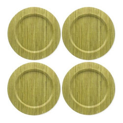 Home Decorators Collection - Water Hyacinth Chargers - These Water Hyacinth Chargers form an elegant backdrop for your everyday or formal dinnerware. Their vibrant color will complement almost any tabletop decor. The plate cover is hand woven and sewn over a MDF wooden plate for durability. Wipe clean with a damp cloth. Add a set to your order today. Hyacinth, cotton and polyester construction. 4 plates in each set. Assorted colors available.