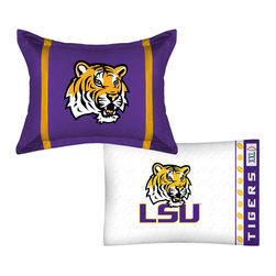Store51 LLC - NCAA Louisiana State Tigers MVP Pillow Sham Pillowcase Set - Features: