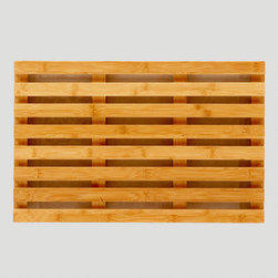 Bamboo Bath Mat - This bamboo bath mat will add some rustic edge to your bathroom. And it makes me think of a Scandinavian sauna — an instant happy place!