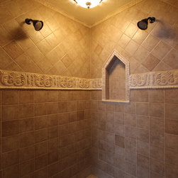 Old World Master Bath, Medina, OH #1 - In this bathroom renovation Sonoma Reserve Tile Collection was used.