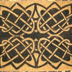 "CocoMatsNMore - CocoMatsNMore Celtic Knots Design Coco Doormats - 18"" X 30"" - Eco-friendly Coco Mat are hand-woven and  made from 100% natural coir . These coco doormats are designed to last for a long time and are easy to maintain and clean by either shaking or hosing it down. Designed with fade-resistant dyes they are durable enough to withstand the harshness of weather and look good througout the year. Furthermore, they keep your house clean by doing a fabulous job of trapping the dirt, mud and debris right at the doorstep."