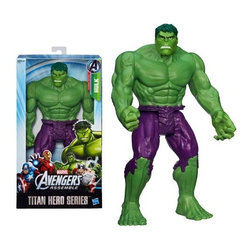 "Koolekoo - Avengers Hulk 12"" Action Figure - Hulk smash! Super-size your Marvel superhero adventures with this incredible Titan Hero Series Hulk figure! This gamma-green Avenger is ready to open up a large-sized attack on the foes of justice everywhere with his smashing, destructive strength. With him at your side, there's no telling where your adventures will take you! From the hit series Avengers Assemble, this gargantuan plastic action figure is jointed and stands 12-inches tall."