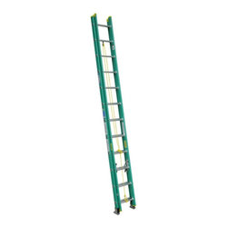 Werner - Werner D5924-2 24 ft. Fiberglass Extension Ladder Multicolor - 3720-6026 - Shop for Ladders from Hayneedle.com! Get the height you need with the durable and far reaching design of the Werner D5924-2 24 ft. Fiberglass Extension Ladder. This ladder features a durable fiberglass construction with a 225-pound duty rating. Its large gravity spring locks keep the extension stable while a heavy duty rope and pulley system makes for easy extension. Slip-resistant shoe pads and spur plates offer a secure footing. Traction-Tred D-rungs feel safe and secure.About WernerWerner is an industry leader that has manufactured and distributed ladders and climbing equipment for over 60 years. Werner ladders are found on more trucks and job sites than all other brands combined. Each product offers a state-of-the-art design and manufacturing process creating professional-grade products that are made to be utilized in the home as well as on the job site. Werner Co. products are built to meet or exceed all applicable American National Standards Institute (ANSI) and Occupational Safety and Health Administration (OSHA) code requirements.