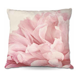 DiaNoche Designs - Woven Poplin Pillow, Peony - Toss this decorative pillow on any bed, sofa or chair, and add personality to your chic and stylish decor. Lay your head against your new art and relax! Made of woven Poly-Poplin.  Includes a cushy supportive pillow insert, zipped inside. Dye Sublimation printing adheres the ink to the material for long life and durability. Double Sided Print, Machine Washable, Product may vary slightly from image.
