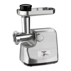 Waring Pro - Waring Pro Die-cast Brushed Stainless Steel Meat Grinder - Grind your ownbeef and other meats with this powerful stainless-steel meat grinder. This tool will help you make sausages and other treats without any unwanted ingredients or preservatives.