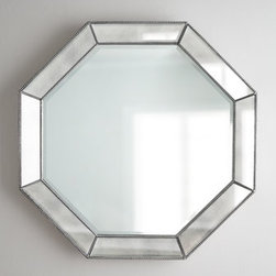 Horchow - Octagonal Beaded-Trim Mirror - We love the versatility of mirrors. They give instant polish to a room and work wonders from illuminating dark corners to adding elegance and drama to creating the illusion of space. This one takes a traditional octagonal shape and dresses it up with be...