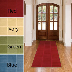 Nourison - Nourison Vibe Collection Area Rug (2'3 x 7'6) - This stunning area rug is anything but monotone,the stylish box effect adds gorgeous texture and brings a warm glow to the rich red tones. A deceptively simple approach to floor covering that brings classic elegance to the room.