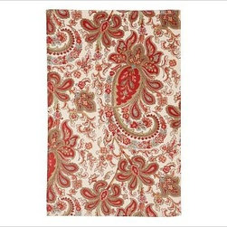 Charlie Paisley Organic Hand Towel, Red - Vibrant paisleys inspired by an antique French wallpaper print swirl across our luxuriously soft organic cotton towels. 600-gram weight. Woven of pure organic cotton. Oeko-Tex certified. Machine wash. Monogramming is available at an additional charge. Monogram will be centered at one end of the bath and the hand towels. Made in Portugal.