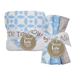 Trend Lab 6 Piece Hooded Towel and Wash Cloth Set - Logan - About Trend LabFormed in 2001 in Minnesota, Trend Lab is a privately held company proudly owned by women. Rapid growth in the past five years has put Trend Lab products on the shelves of major retailers, and the company continues to develop thoroughly tested, high-quality baby and children's bedding, decor, and other items. Trend Lab continues to inspire and provide its customers with stylish products for little ones. From bedding to cribs and everything in between, Trend Lab is the right choice for your children.
