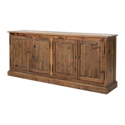 Four Hands - Kelly Large Sideboard - This simply elegant sideboard harkens back to early American and French design — making it a classic choice for your home. Crafted from reclaimed pine, it's bleached, sanded and finished to heighten the natural beauty of the wood. Note its ample size, ideal if you enjoy entertaining a crowd.