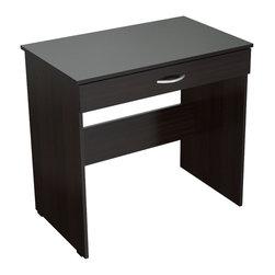 Inval America - Functional Writing Desk - Create a functional writing, studying or work space with this modern writing desk.