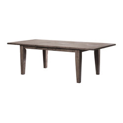 "Irish Coast Extension Dining Table 72""/96"", Sundried Ash"
