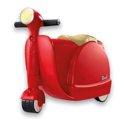 Diggin Active - Diggin Active Skootcase Riding Push Toy - Red Multicolor - 5516319 - Shop for Tricycles and Riding Toys from Hayneedle.com! You'll zoom through the airport with ease when you've got the Diggin Active Red Skootcase. Your little traveler is going to love this innovative ride-on toy which is designed to look like an Italian scooter and is a winner of the Dr. Toy Best Vacation Products Award. A spacious interior provides plenty of room for belongings while fully functional steering and sturdy rubber wheels make it a safe ride on any surface indoors or out. Plus it's specially sized to fit in an airplane overhead bin and the sturdy tow strap makes it easy for you to tote when your little one tires out. Recommended for children ages three and older. About Diggin Active Inc.Established in 2006 Diggin Active was founded by Nathan Keker Jenny Stern and Phil Neal all veterans of the toy industry. Combining more than 30 years in the field the trio created a line of sports toys with one goal in mind - bringing the joy of sports to kids. Their products focus on taking the fear and frustration out of learning sports through top-quality design and performance so kids can develop an enduring passion for sports and an active lifestyle.