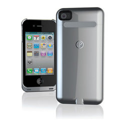Power Mat Case, Silver - This super sleek case keeps your iPhone charged, no strings attached.