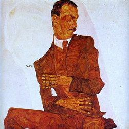 """Schiele Portrait of the Art Critic, Arthur Roessler - 16"""" x 16""""  Print - 16"""" x 16"""" Egon Schiele Portrait of the Art Critic, Arthur Roessler premium archival print reproduced to meet museum quality standards. Our museum quality archival prints are produced using high-precision print technology for a more accurate reproduction printed on high quality, heavyweight matte presentation paper with fade-resistant, archival inks. Our progressive business model allows us to offer works of art to you at the best wholesale pricing, significantly less than art gallery prices, affordable to all. This line of artwork is produced with extra white border space (if you choose to have it framed, for your framer to work with to frame properly or utilize a larger mat and/or frame).  We present a comprehensive collection of exceptional art reproductions byEgon Schiele."""