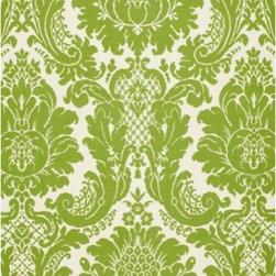 F. Schumacher - Harmon Manor II Fabric, Green - 2 Yard Minimum Order.