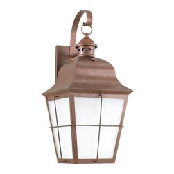 Sea Gull Lighting - Sea Gull Lighting 89273BLE Chatham 1 Light Energy Star Outdoor Lantern Wall Scon - Specifications: