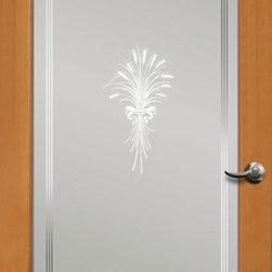 Authentic Wood Doors - Vertical Grain Douglas Fir Glass French Door Wheat Frosted