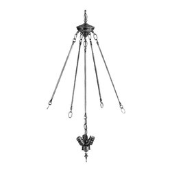 Meyda Tiffany - Meyda Tiffany Wiring Components Unique Pendant Light Fixture in Tiffany Items - Shown in picture: 3 light Invert Pendant Cluster