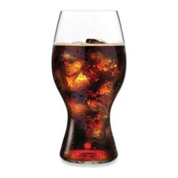 Riedel - Riedel 17-Ounce Coca Cola Glass - Enjoy refreshing beverages in these beautifully-crafted drinking glasses by Riedel. The glasses feature a curved design that evokes the iconic Coca Cola brand.