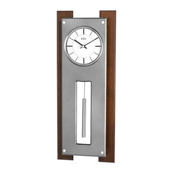 BULOVA - Bulova Gramercy Contemporary Wall Clock - Walnut and titanium-finish panel case.
