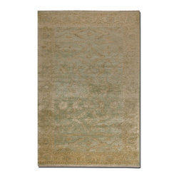 Uttermost - Uttermost Anna Maria 10 x 14 New Zealand Wool Rug 70008-10 - Hand knotted new zealand wool in heavily washed light blue and weathered golden ivory.