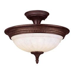 SAVOY HOUSE - Savoy House Liberty 2 Light Semi-Flush in Walnut Patina KP-6-508-3-40 - Bulbs are included.