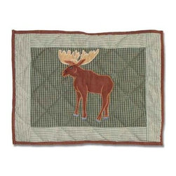 Patch Magic - Moose Crib Toss Pillow - 16 in. W x 12 in. LHandmade, Hand quilted Crib Toss Pillow made from 100% Cotton. Machine washable, but for best care hand wash in cold water. Do not machine dry. Do not dry clean.