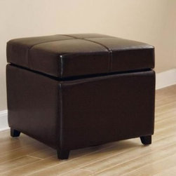 Baxton Studio Tate Bi-cast Leather Storage Ottoman - What will you like best about the Baxton Studios Tate Bi-cast Leather Storage Ottoman? Will it be the ample storage area that's perfect for blankets, games, or pillows? Or will it be the top of the ottoman, which provides a very comfortable place for you to put your feet up and relax? It might even be the bi-cast leather that's available in your choice of colors and holds up to family room wear and tear. There's a lot to love with this ottoman, and we know you'll love it all.About Baxton StudiosThis item is designed and manufactured by Baxton Studios, a furniture company based near Chicago. A lot goes into the making of Baxton Studios furniture, and it all starts with attention to details. They hand select their unique line of leather and micro-fiber fabrics. Their furniture is padded with high polyurethane foam to create the body contouring comfort and support for which Baxton Studios is famous. All frames are constructed of high quality wood or steel on select models, providing sturdy frame construction that exceeds industry standards. Baxton Studios is committed to constantly providing stylish and unique furniture for the best value to help you create a comfortable living space with ease and confidence.