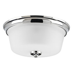 """Progress Lighting - Progress Lighting P3836 Lahara 13"""" Two-Light Flush Mount Ceiling Fixture - 2-Light Flush Mount in an Aged Pewter finish. Timeless style works with a variety of decors and coordinates with Delta's popular Lahara faucet design. Mounts up or down.Features:"""