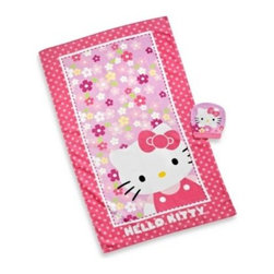 Franco Manufacturing Company, Inc. - Hello Kitty Bath Towel and Wash Mitt Set - This bath towel and wash mitt set is a great way to get the kids to want to take a bath. It coordinates perfectly with the Hello Kitty bedding collection.