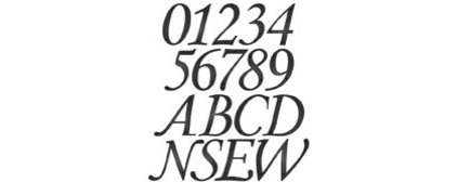 Traditional House Numbers Blink Corsica 5 Inch House Numbers