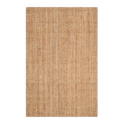 Safavieh - Endicott Natural Fiber Rug, Natural 5' X 8' - Construction Method: Hand Woven. Country of Origin: India. Care Instructions: Vacuum Regularly To Prevent Dust And Crumbs From Settling Into The Roots Of The Fibers. Avoid Direct And Continuous Exposure To Sunlight. Use Rug Protectors Under The Legs Of Heavy Furniture To Avoid Flattening Piles. Do Not Pull Loose Ends; Clip Them With Scissors To Remove. Turn Carpet Occasionally To Equalize Wear. Remove Spills Immediately. Hand-woven with natural fibers, this casual area rug is innately soft and durable. This densely woven rug will add a warm accent and feel to any home. The natural latex backing adds durability and helps hold the rug in place.