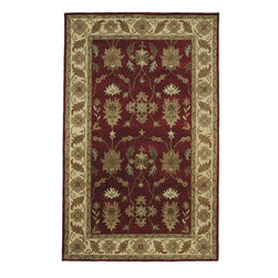 Dynamic Rugs - Dynamic Crsma 1403-300 Red/Ivory 7'10'' Round Area Rugs - Dynamic Crsma 1403-300 Red/Ivory 7'10'' Round Area Rugs