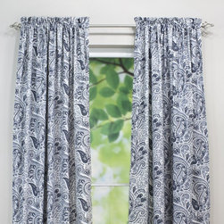 Chooty & Co. - Chooty & Co Paisley Rod Pocket Curtain Panel - CP842160 - Shop for Curtains and Drapes from Hayneedle.com! For a look both sophisticated and fun the Chooty & Co Paisley Rod Pocket Curtain Panel never disappoints. This curtain panel features a delicate all-over paisley pattern in your choice of updated color combination and length for perfect customization. It's made of natural cotton with a classic rod pocket design that accommodates up to a 2-inch rod.About Chooty & Co.A lifelong dream of running a textile manufacturing business came to life in 2009 for Connie Garrett of Chooty & Co. This achievement was kicked off in September of '09 with the purchase of Blanket Barons well known for their imported soft as mink baby blankets and equally alluring adult coverlets. Chooty's busy manufacturing facility located in Council Bluffs Iowa utilizes a talented team to offer the blankets in many new fashion-forward patterns and solids. They've also added hundreds of Made in the USA textile products including accent pillows table linens shower curtains duvet sets window curtains and pet beds. Chooty & Co. operates on one simple principle: What is best for our customer is also best for our company.