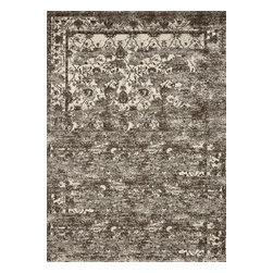 """Loloi Rugs - Viera Contemporary Rug VIERVR-01MCIV - 5'-3"""" X 7'-7"""" - Classically expressed design elements enjoy a graphic, modern twist in the Viera Collection. Power-loomed of 100-percent polypropylene, these tasteful contemporary and refined transitional designs reverberate with style. A deliberate high-low pile adds to the worn, vintage look and finish of each rug. Ultra sophisticated black/ivory and mocha/ivory color options add broad appeal to this timely yet timeless collection."""