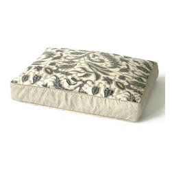Laguna Coral Dog Bed - Slate - Tailored in a distinctive fabric like that of fine home furnishings, the Laguna Coral Dog Bed lets Fido feel right at home amidst your eclectic appointments. A distinctive organic pattern on the top boasts a neutral coloration that allows for ease in blending with decors either subtle or bold. Fashioned from a highly durable fabric, the dog bed offers welcoming comfort for your four-footed friend and graceful beauty for your abode.