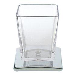 Modo Bath - Tilda 5738KK Bathroom Cup in Chrome - Tilda 5738KK, 3.9 x 3.5 x H 4.5, Bathroom Cup in Chrome