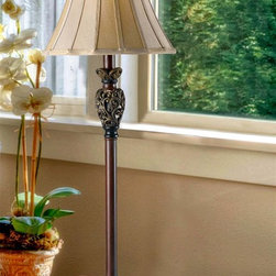 Kenroy - Kenroy 20182GR Iron Lace Traditional Buffet Lamp - Sculptured traditional silhouettes with an attention to detail deliver remarkable rewards. The Iron Lace family brings a fresh twist to classical elements with luminous aged warm finishes and metallic highlighted scrolls.