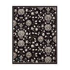 """Nourison - Nourison Versailles Palace VP49 7'6"""" x 9'6"""" Black White Area Rug 17247 - Walk in beauty, on a design fit for regal footsteps. Deepest midnight black is inlaid with blossoming flowers and delicate tendrils that glow with ivory purity. The subtle luster of superior wool is enhanced by the deep, hand-carved pile. Rich in the pleasures of fine quality."""