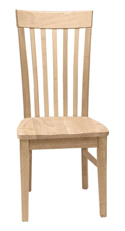 International Concepts - International Concepts Unfinished Tall Mission Wood Chair (Set of 2) - International Concepts - Dining Chairs - C465P