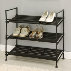 Neu Home 3-Tier Shoe Rack - About Organize It All With masterful designs using top-quality materials, Organize It All is dedicated to providing convenient and stylish storage solutions for every room in your home, believing that a well-organized environment is more enjoyable. Offering over 500 products for everyday use, the company maintains warehouses in Saddle Brook, New Jersey, and Costa Mesa, California, for quick delivery to your home.