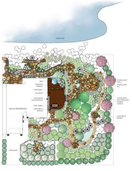 Contemporary  Back Bay Retreat Conceptual Plan