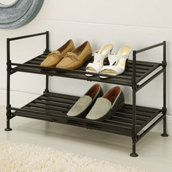 Neu Home 2-Tier Shoe Rack - About Organize It AllWith masterful designs using top-quality materials Organize It All is dedicated to providing convenient and stylish storage solutions for every room in your home believing that a well-organized environment is more enjoyable. Offering over 500 products for everyday use the company maintains warehouses in Saddle Brook New Jersey and Costa Mesa California for quick delivery to your home.