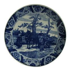Chemkefa - Large Consigned Vintage Blue Delft Charger Plate - Product Details