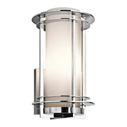 Kichler - Kichler Pacific Edge 1-Light Polished Stainless Steel Outdoor Wall Light - This 1-Light Outdoor Wall Light is part of the Pacific Edge Collection and has a Polished Stainless Steel Finish.