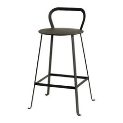 Rutland Counter Stool - These metal counter stools add vintage modern charm and some fun curves to your kitchen island, counter, or bar.