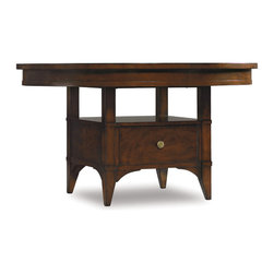 Hooker Furniture - Hooker Furniture Abbott Place Round Counter Height Dining Table with one 16-inch - Abbott Place takes a hip spin on traditional styling for a look that blends the best of classic American influences with fresh, updated design.